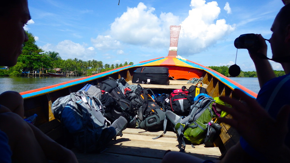 backpacks-in-a-thailand-boat