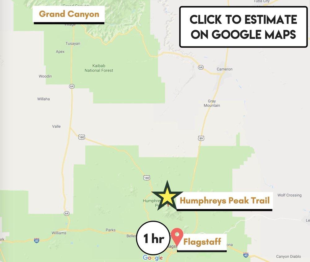 driving-map-humphreys-peak-trail
