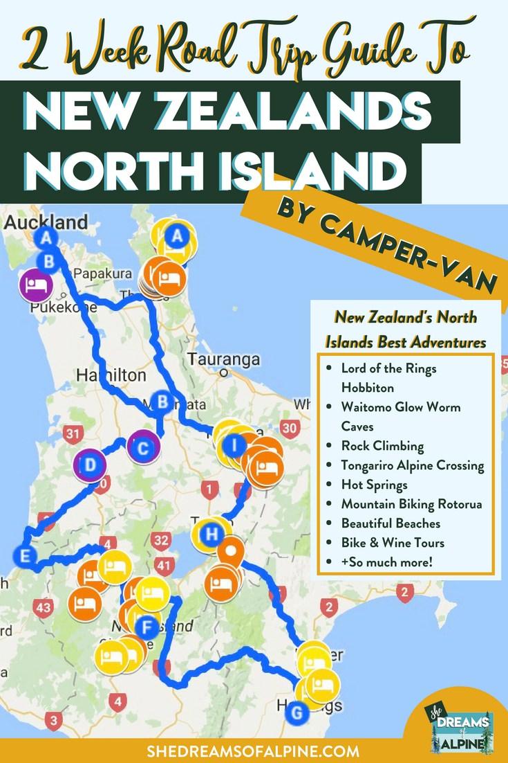 2 Week Road Trip Guide To New Zealands North Island By Camper Van
