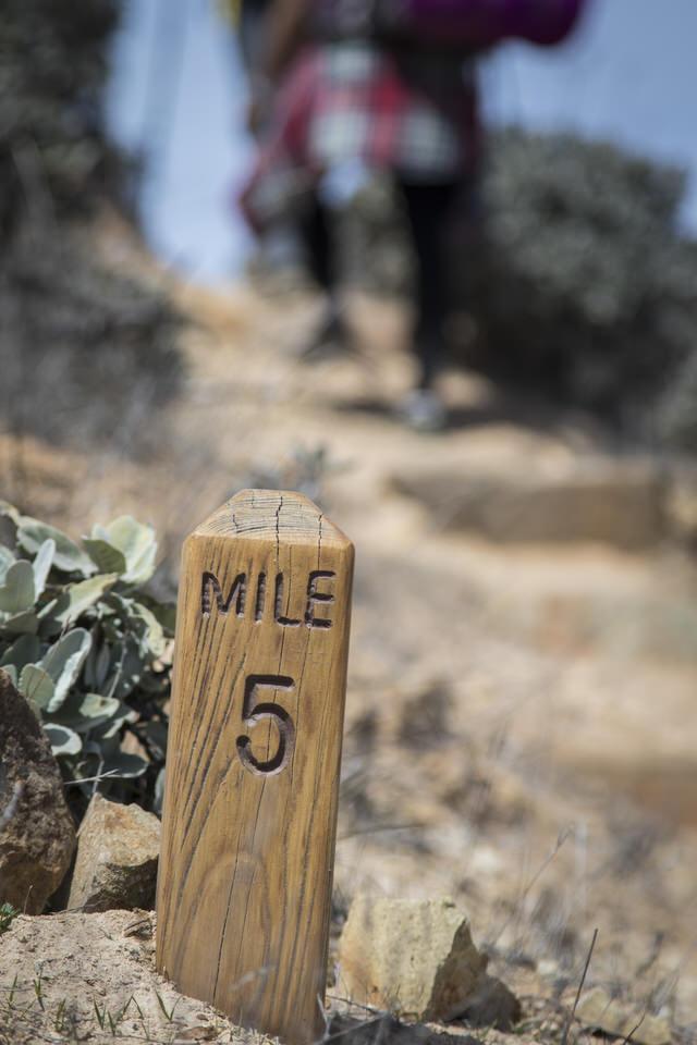trans-catalina-trail-mile-marker