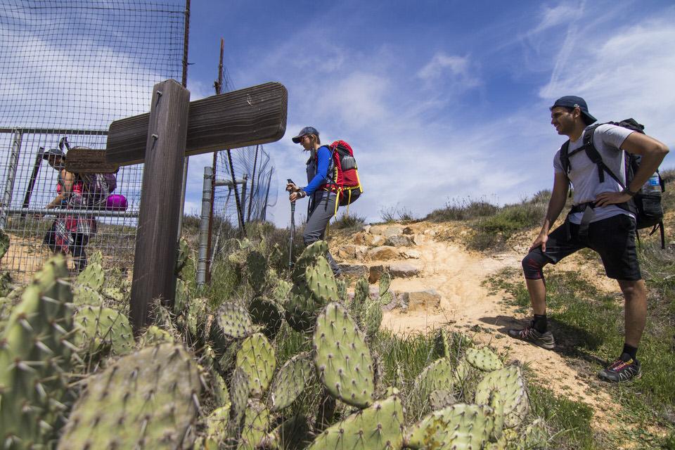 hiking-through-gate-trans-catalina-trail