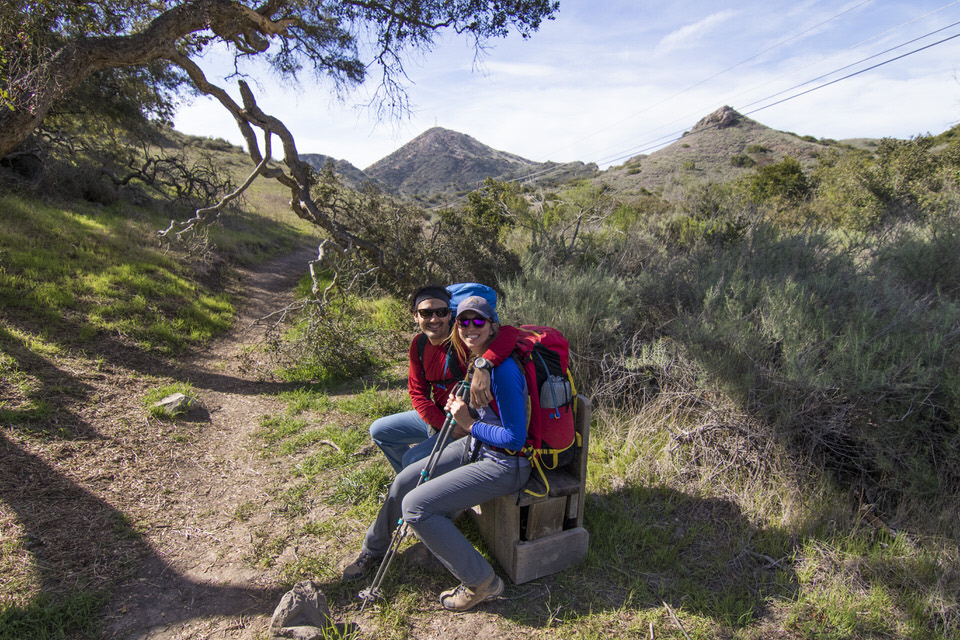 couple-sitting-on-bench-trans-catalina-trail