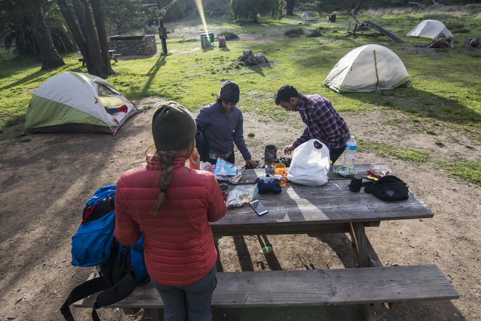 campers-cooking-dinner-blackjack-campground-catalina-island