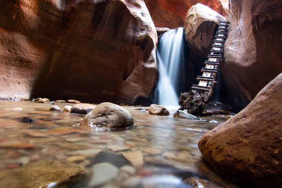 Kanarra Falls - also known as Kanarra Creek Falls and Kanarraville Falls