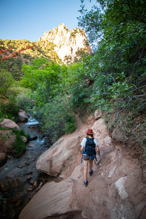 Start out hiking alongside Kanarra Creek.