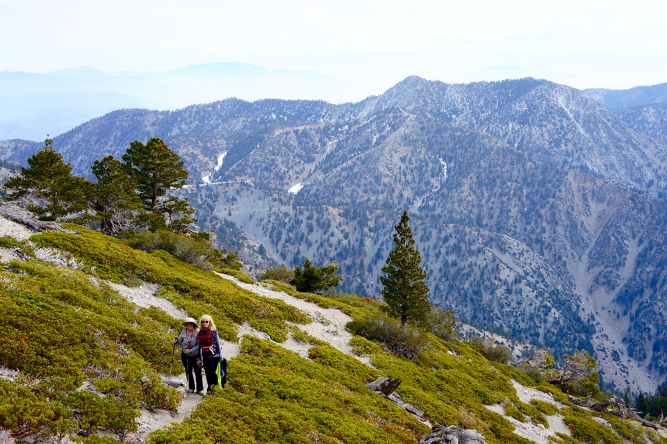 Hikers on the Ski Hut Trail.
