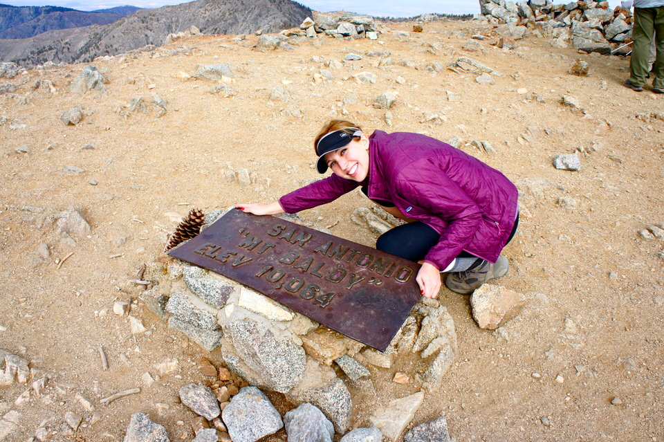 Mount Baldy Summit sign