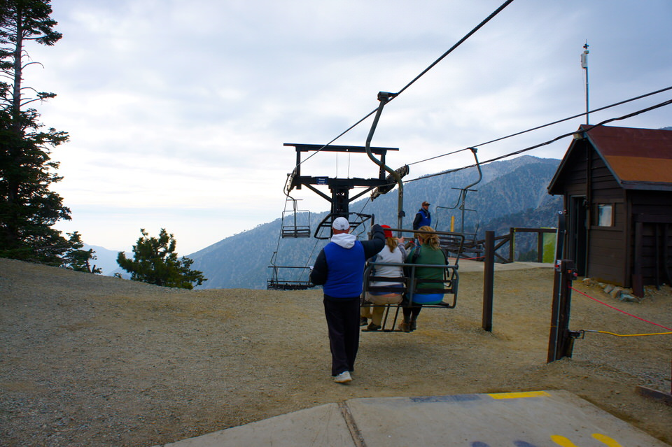 Taking the Mt Baldy Lift down to the bottom of the trailhead.