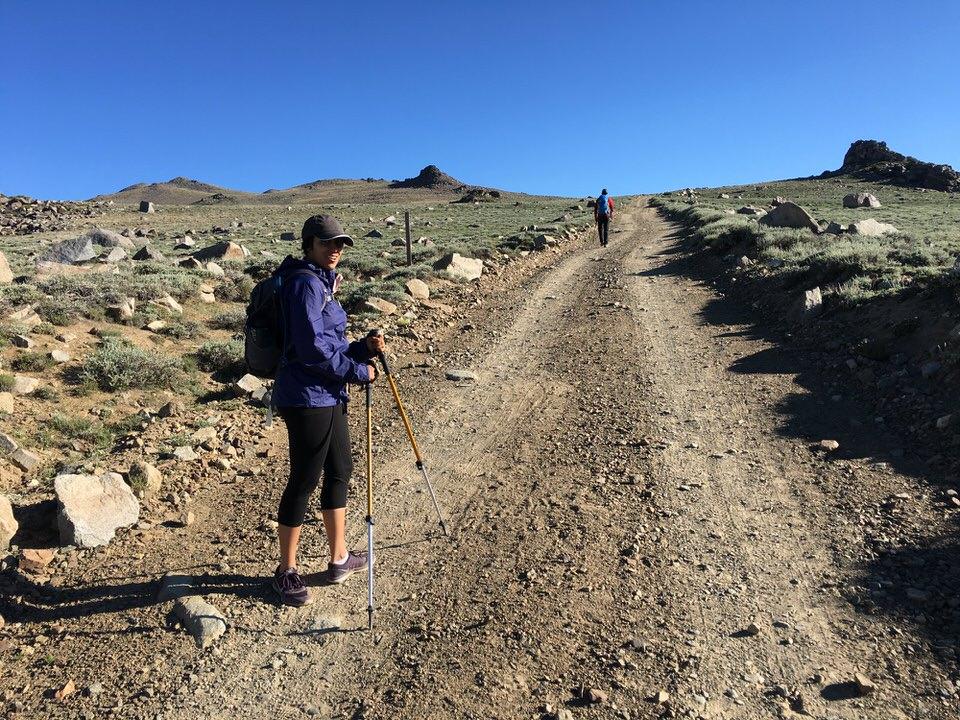 Starting our hike to White Mountain Peak!