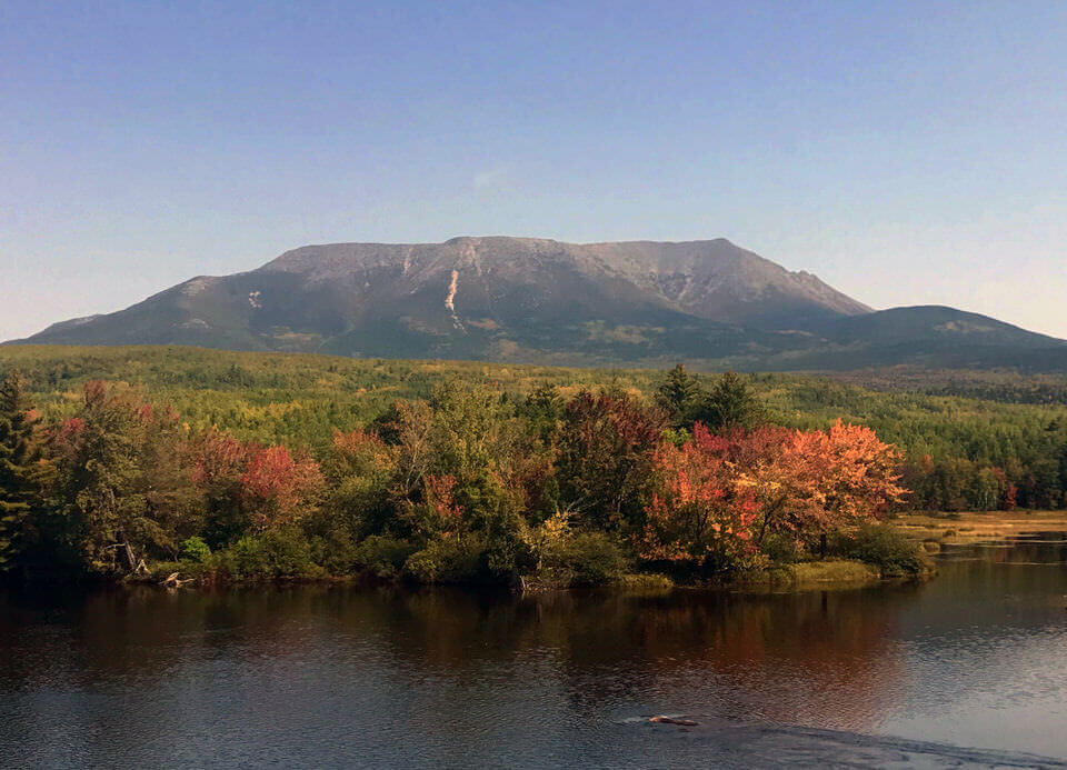 View of Mount Katahdin on the Appalachian Trail.