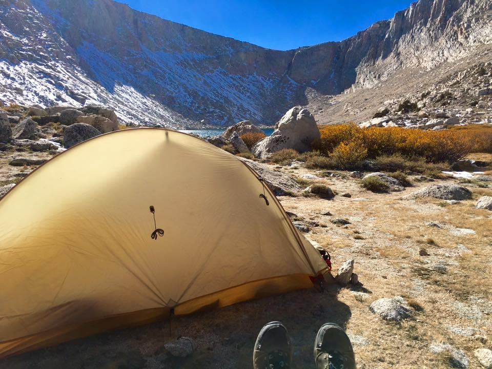Campsite at Cottonwood Lakes.