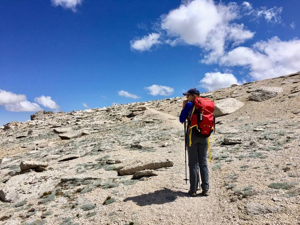 Following the trail toward Mount Langley summit.