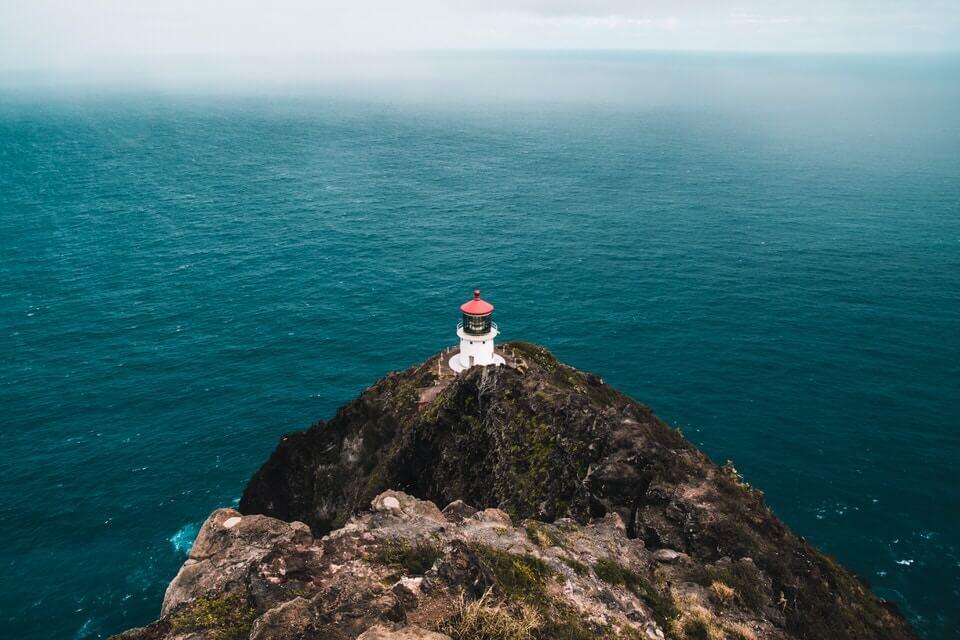 View of the Makapu'u Lighthouse, Oahu.