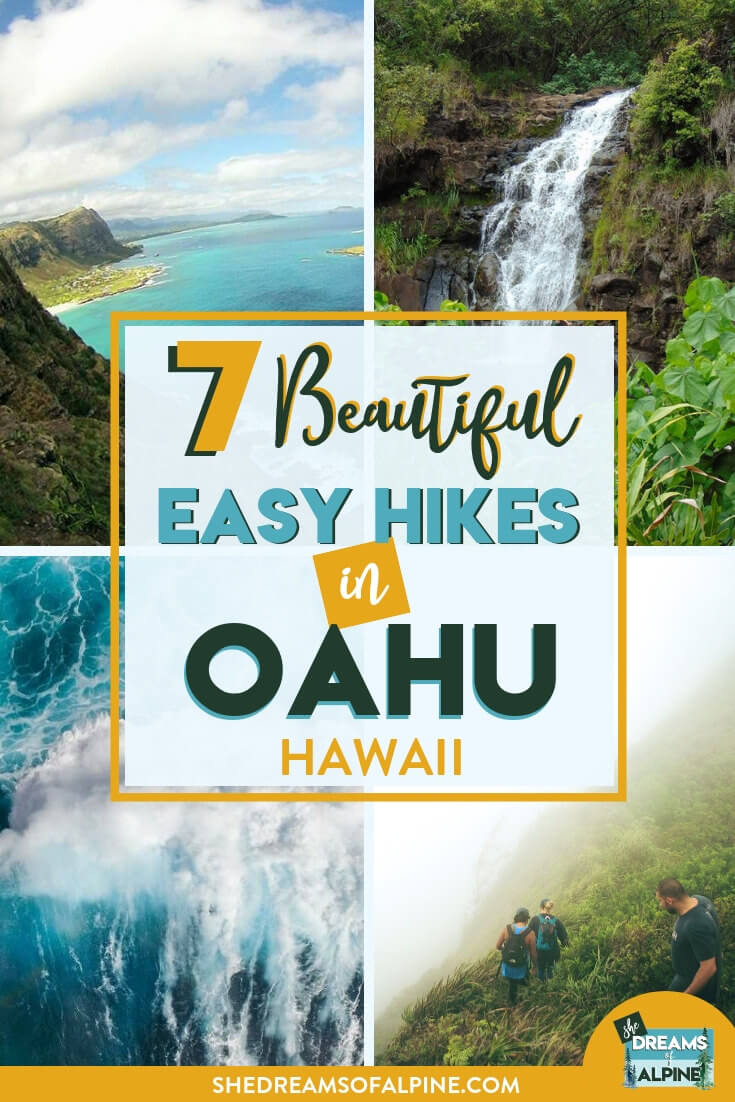 7 Beautiful Easy Hikes in Oahu, Hawaii |  Hawaii is well known for its jaw-dropping islands and Oahu is one of its 8 beautiful islands. There are also ample opportunities to venture off of the beach and explore the island further, and this guide will show you 7 of the best easy hikes in Oahu to start off your vacation. Oahu has got it all, and adventure is literally around every corner. | shedreamsofalpine.com