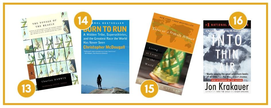 4 great travel adventure books!