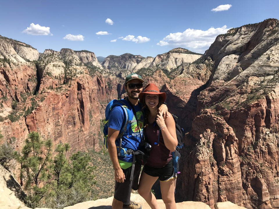 Picture at thee top of Angels Landing.