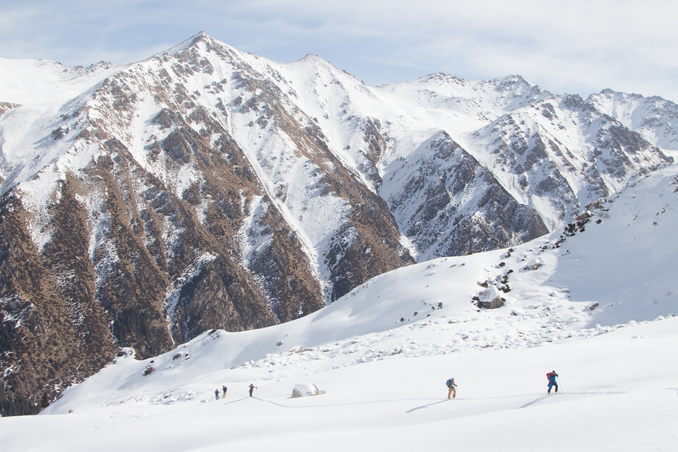 Backcountry skiing in Kyrgyzstan