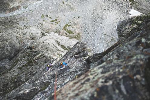 climbing the petit grepon