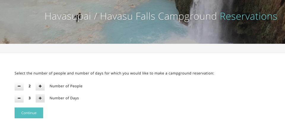 Havasupai Falls Permitting process