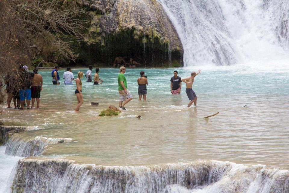 Swimming in Beaver Falls