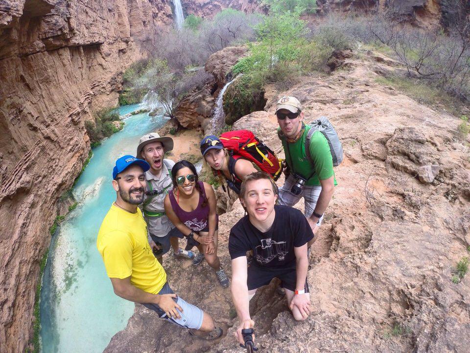Selfie at Mooney Falls on the Havasu Falls Hike.
