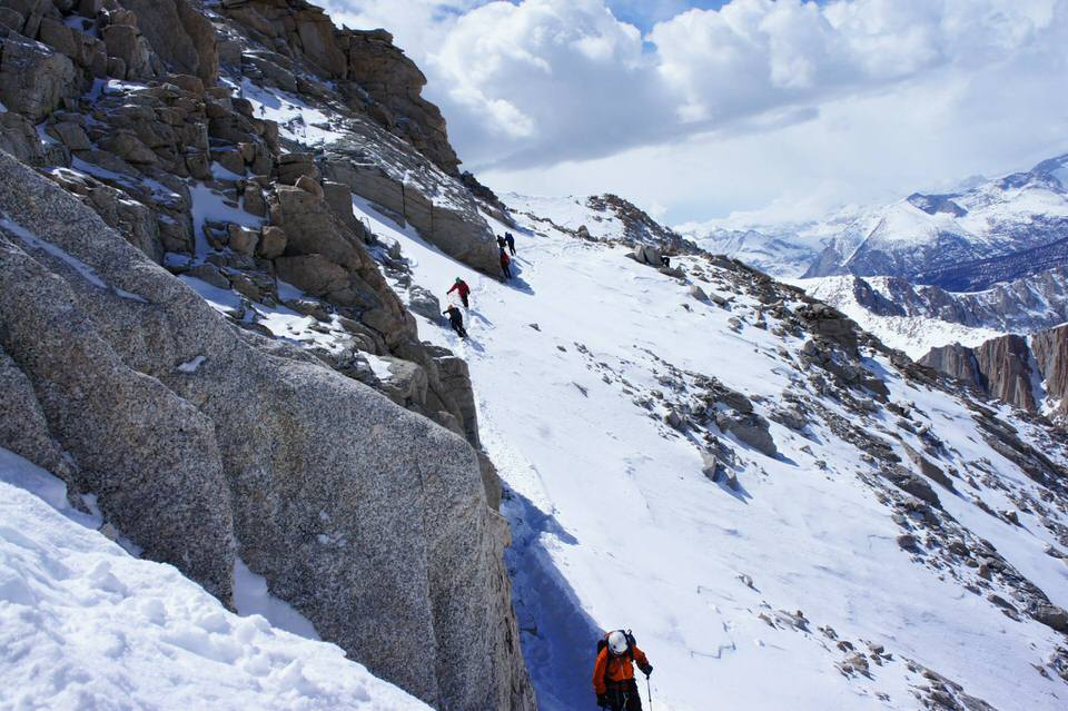 Mountaineering can be more fun with friends.