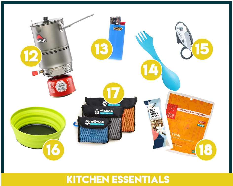 Make sure you have all the kitchen essentials packed for backpacking.