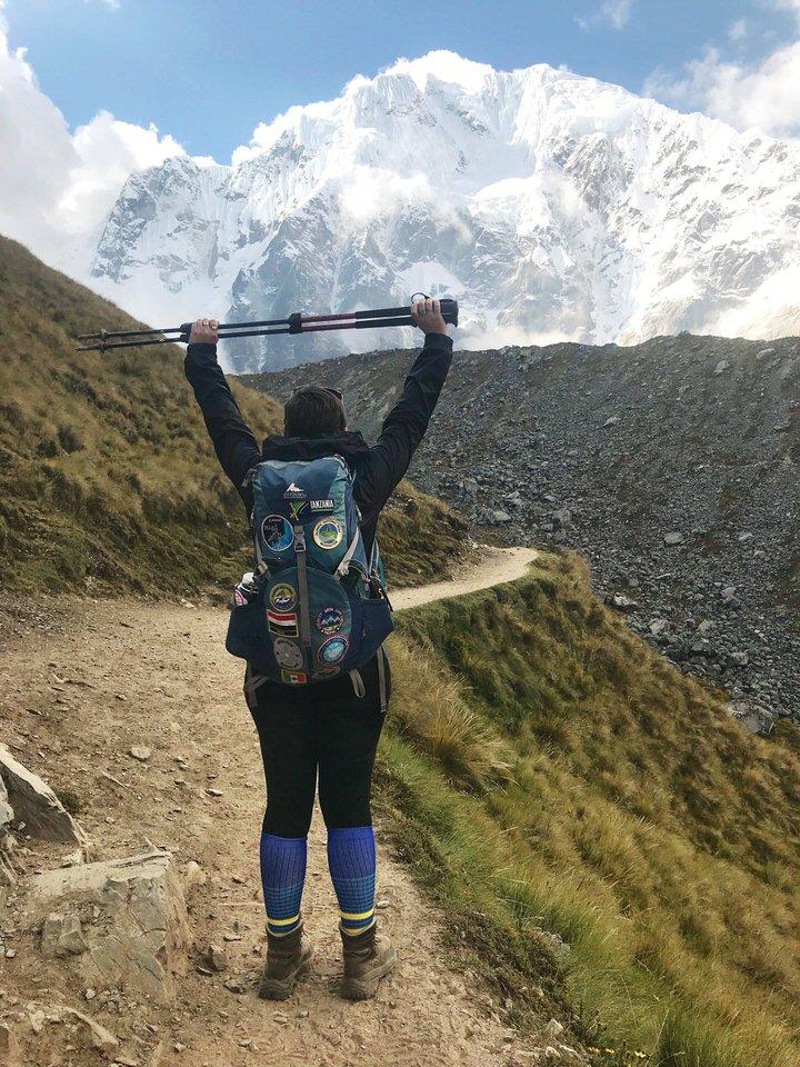 The Salkantay Trek is a beautiful beginner backpacking trail!