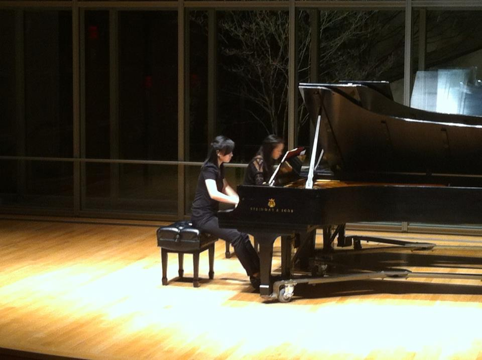 Mozart Sonata in D major for Two Piano with Sonia Hu, Cleveland OH, 2013