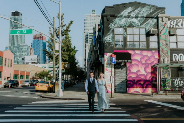 - LAUREN + WILLTIED THE KNOT: August 26th, 2017VENUE: The Foundry, Long Island City, NYOUR FAVORITE PART: The groom's surprise gift to the bride (check out @harveywalnuttheweiner!)What they had to say about T&S: The girls at Tall & Small were highly recommended by our caterer's Bonbite and we are so glad that they did. We couldn't have imagined our day without the help of Elodie and Carina. From the moment we spoke with Elodie, we knew they were the right fit. In the run up to the day Elodie was so helpful with tips, hints, tricks and recommendations for other vendors. We hired quite a few vendors on her recommendation – all of which we were beyond happy with. They really have a little black book of some of the best in NY.My mom and I decided that we needed a planner to help with the month of planning as I live abroad in the UK and I couldn't ask my mom and dad to do any more than they already did so knew I needed a trusted pair of hands – which I found in Tall & Small Events. They were so great working with me, my now husband and mom to make sure we were all on the same page and happy.So there is no other way to put it then Elodie and Carina kept us totally on track in the run up to the wedding making sure that we were on it and got us to think about things we didn't even know we needed to think about! The girls were so great at calls and meetings in the lead up, ensuring that they clearly knew every facet of our vision to ensure they could bring it to life and let me tell you, they did! How people plan their own weddings and deal with all the logistics and still enjoy their wedding, I will never know! If there is one thing you do for your big day, it should be to hire Elodie & Carina – the wedding wizards!Image: Shannon for Amber Gress Photography