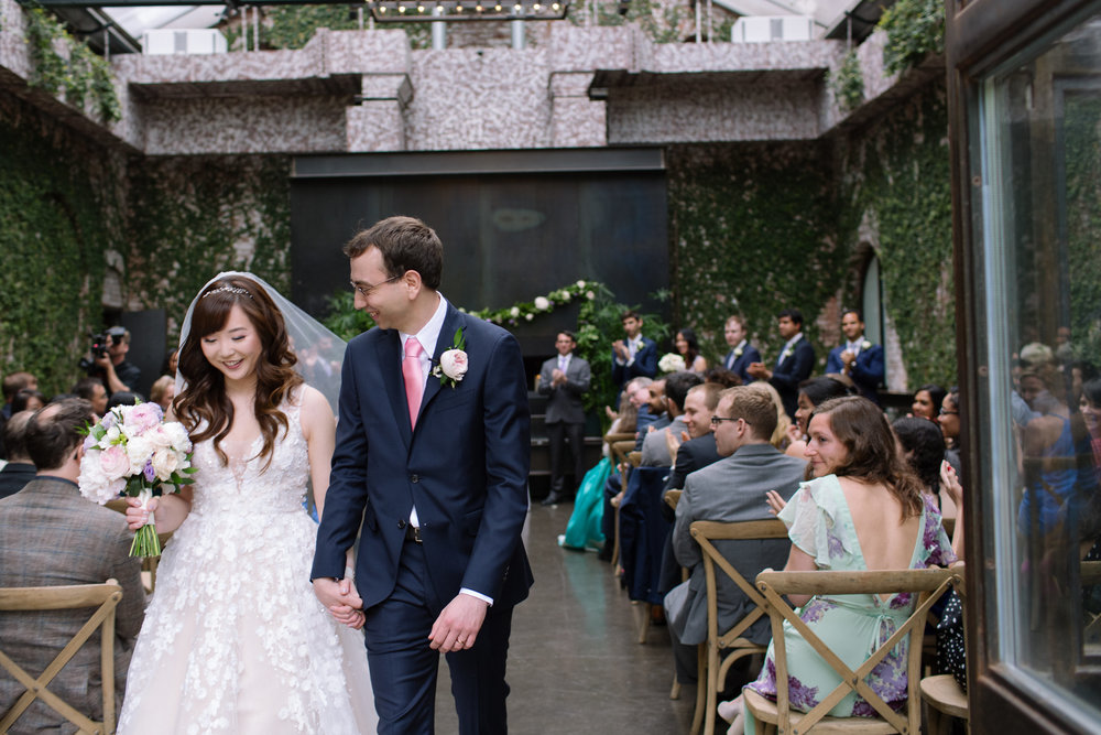 HEEJIN + BRYAN                                                TIED THE KNOT: April 30th, 2017        VENUE: The Foundry, Long Island City, NY               OUR FAVORITE PART: Heejin's Dad's Janchi-Guksu Noodle Toast - What they had to say about T&S: Where to even start! Elodie and Carina are absolute superstars. The minute we first spoke with Elodie we knew she was THE ONE. She is so friendly, professional, organized, and so so SO good at her job. Preparing for the wedding, I'd heard the advice that, since it's almost inevitable that SOMETHING would go wrong on the day-of, I should try and keep in mind the big picture and not let little things that go wrong bother me too much. Well, this was 100% inapplicable on our wedding day because Elodie and Carina made sure that NOTHING, however small, went wrong. Everything was executed perfectly, all thanks to them. They anticipated and attended to our every need and want, and a thousand other things that didn't even occur to us. Not only are they extremely efficient and organized, Elodie and Carina truly care and go the extra mile-- for example, once the dance music started blaring, Elodie immediately went over to my grandmother (who was sitting up front, near the music and dancefloor) to make sure she could move somewhere where she would be more comfortable. We absolutely loved working with Elodie and Carina and whole-heartedly recommend Tall & Small Events. They will get the job done (and then some!) and keep you smiling through the process.Image: City Love Photography