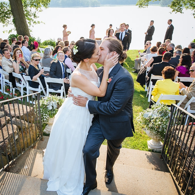INTIMATE GARDEN WEDDING WITH   SURPRISE GENDER REVEAL WEDDING CAKE    @ WAINWRIGHT HOUSE, RYE, NY   ESTEE + ANDREW