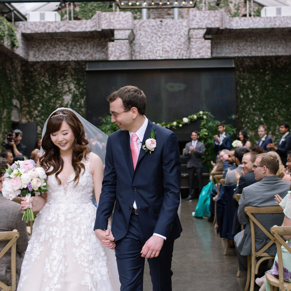 KOREAN-AMERICAN SPRING INDUSTRIAL WEDDING WITH LAW PROFESSOR OFFICIANT FOR HARVARD SWEETHEARTS    @ THE FOUNDRY, NY   HEEJIN + BRYAN