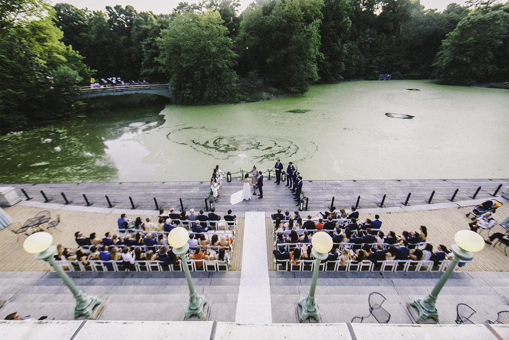 Tall & Small Events NYC, G+N, Modern, Intimate Summer Brooklyn Garden Wedding at the Prospect Park Boat House, Brooklyn New York City. Photo: Sasha B Photo.