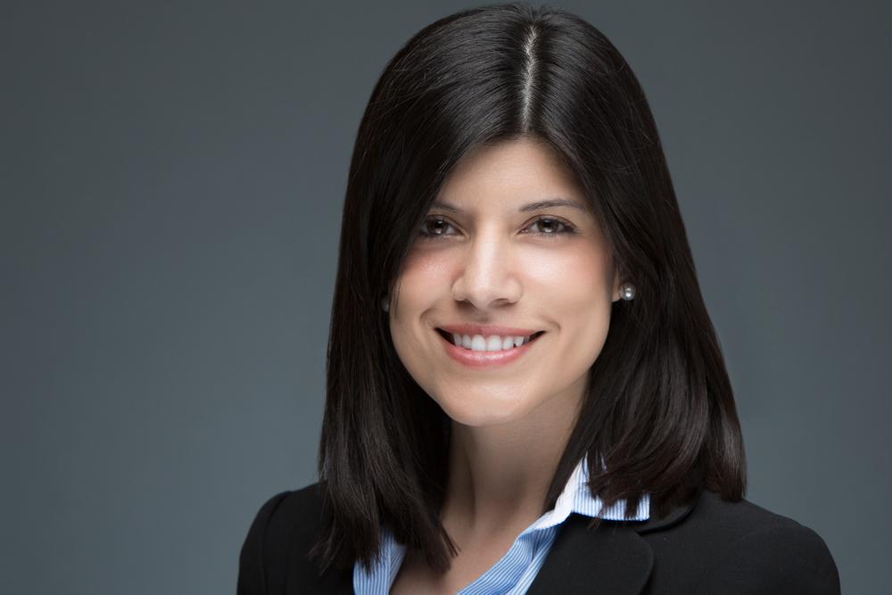 Fiorella Lopez Business Professional Headshot  Grey Background by Lamonte G Photography Baltimore