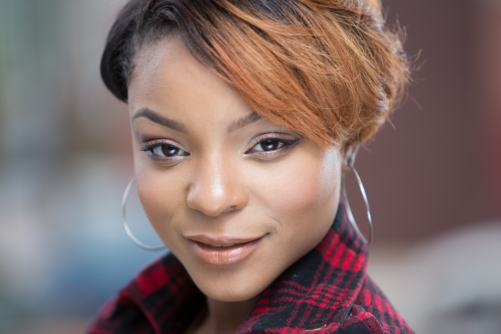Miracle Smith Entrepreneur Headshot Cinematic Makeup Artist Background by Lamonte G Photography Baltimore