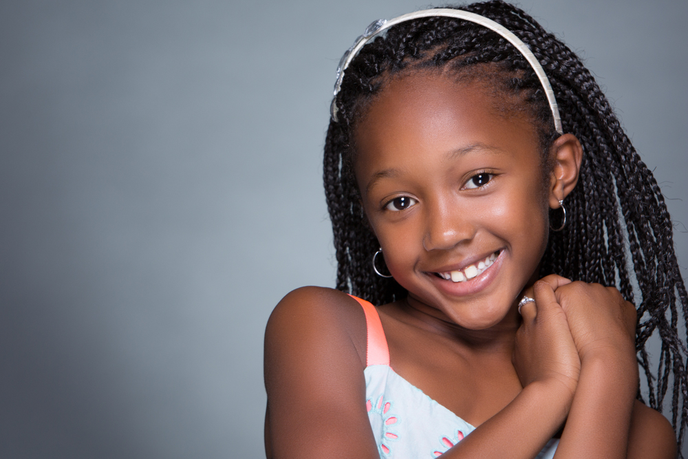 Girl Children Portrait on Grey Background by Lamonte G Photography Baltimore