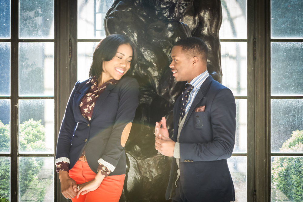 Engagement Portrait of Couple in Museum by Lamonte G Photography Orlando