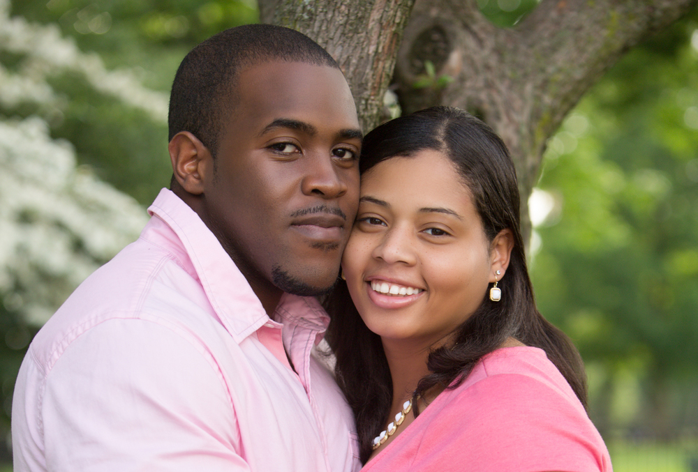 Engagement Portrait of Couple in Park by Lamonte G Photography Baltimore