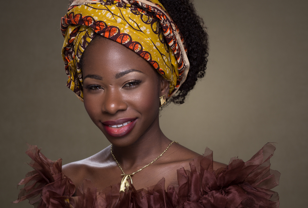 Individual Portrait of Woman with African Head Dressing by Lamonte G Photography Orlando