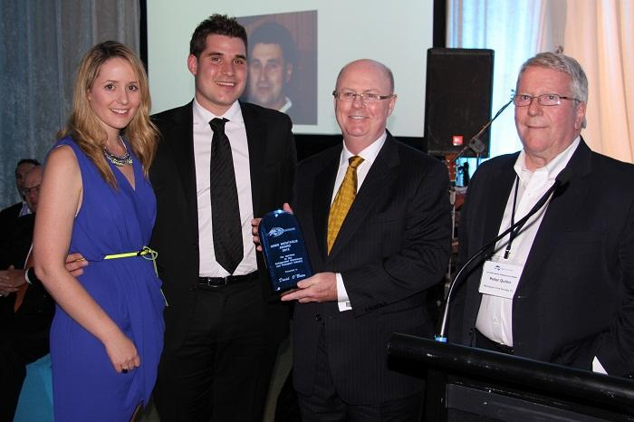 David is pictured above (second from right) receiving the Greg Montague Award with, from left to right, Crystal Montague (Communications and Brand Manager, Montague Group),  Andrew Montague (Human Resource Manager, Montague Group) and Peter Quinn (previously Director Montague Group and Immediate Past Chairman RWTA).