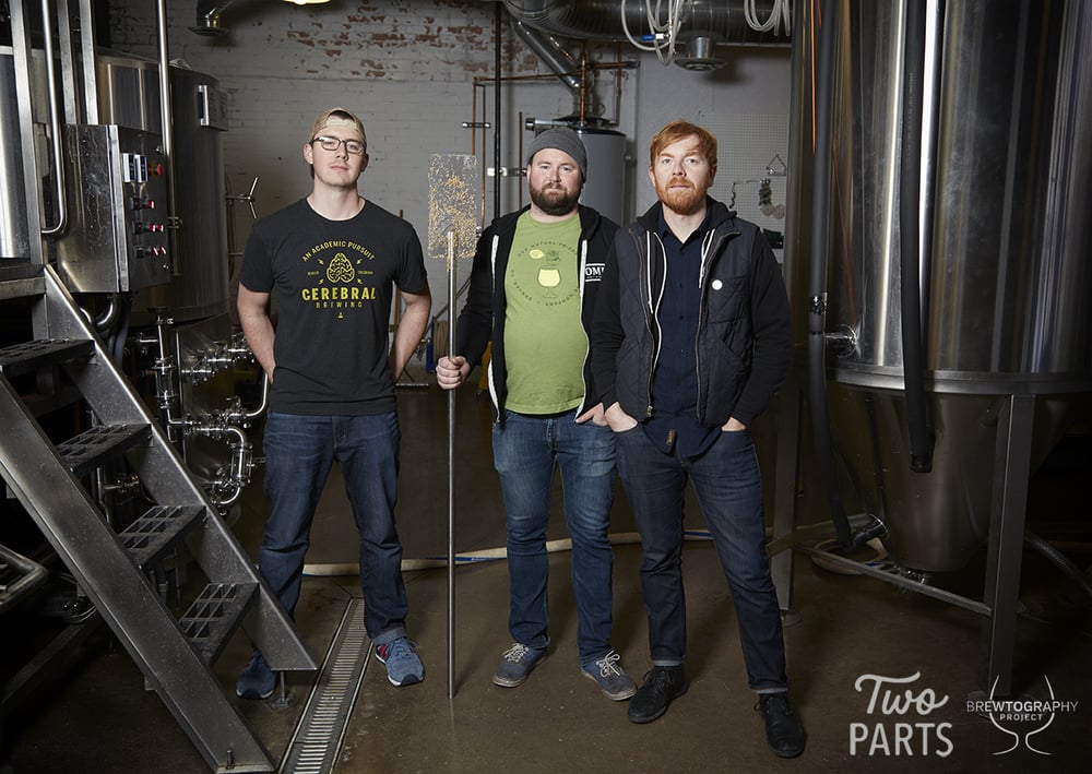 The brewers Brandon, Sean and Chris told us they like like collaboration beers because of all the non-beer related talking they get to do with industry peers. They get to learn about each others interests, background, what they spend their time on outside of the industry. It builds lasting friendships.