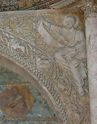 """San Marco Spandrel"" by Maria Schnitzmeier - Detail of Image."
