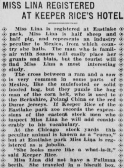 Los Angeles Herald . October 3, 1908, from  here .