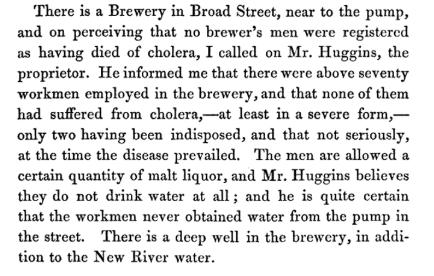 John Snow.  On the Mode of Communication of Cholera . London, John Churchill 1855. p42.