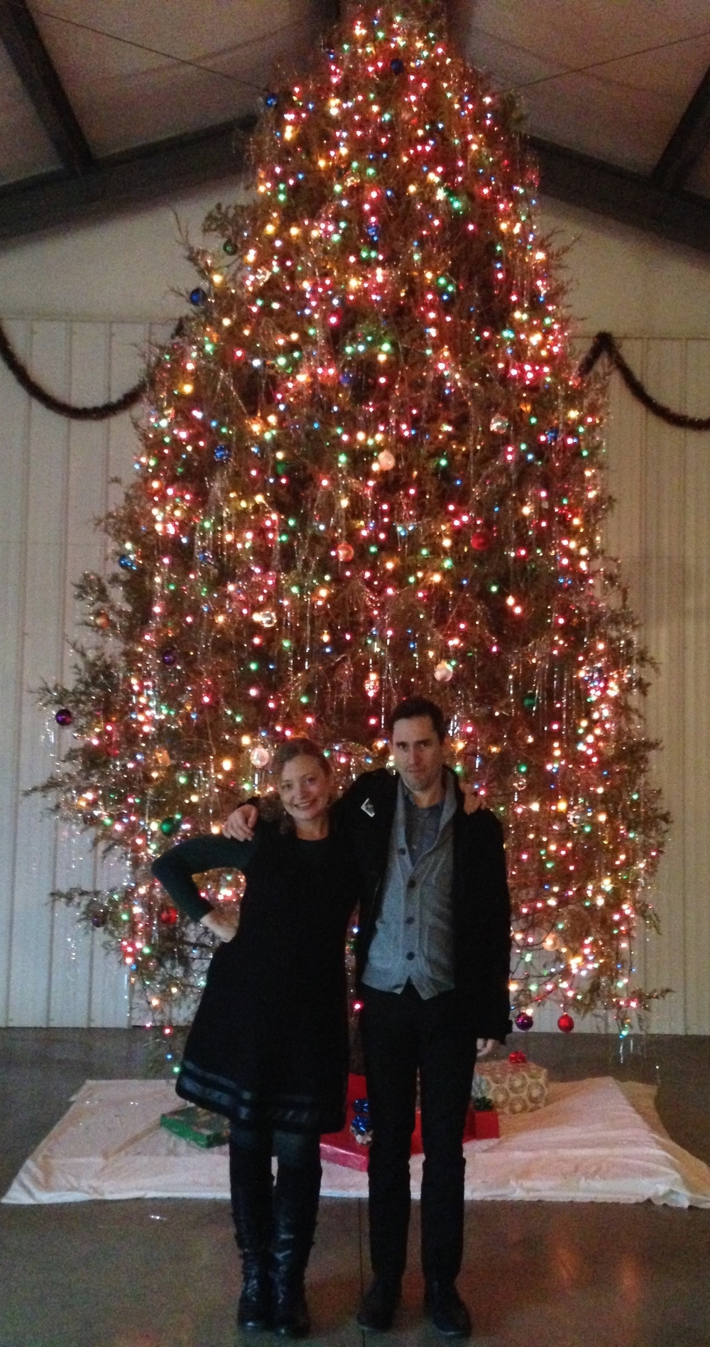 My pal Joey and I with BRV's ginormous x-mas tree!