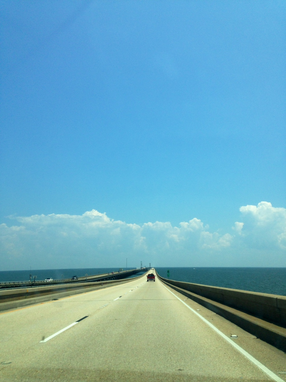 Crossing Lake Pontchartrain on The Causeway