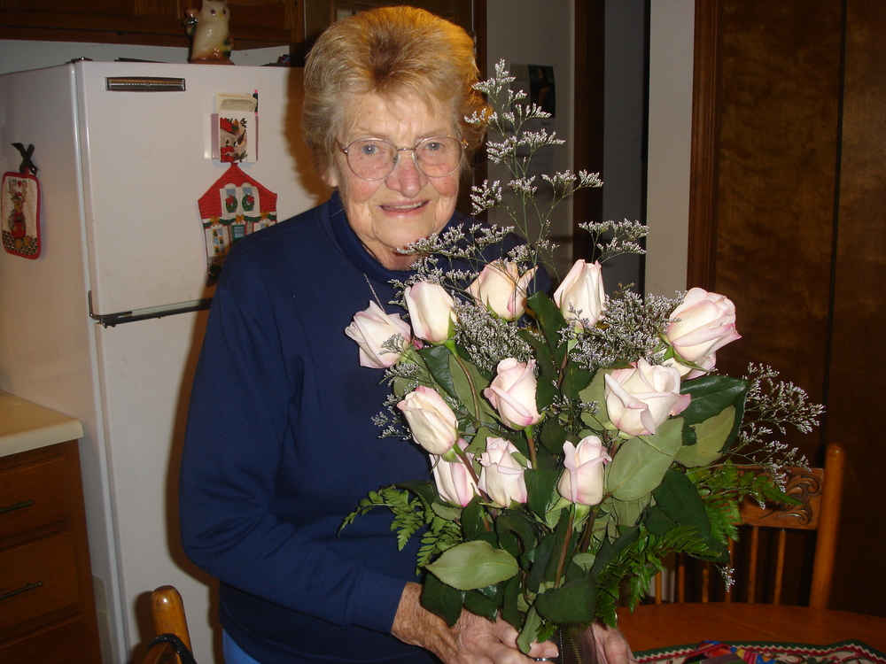 She loved roses. All flowers really. And was so good with them.