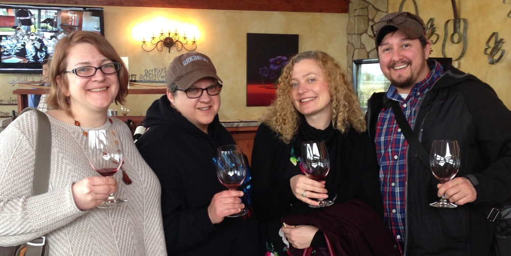 Wine tasting in Paso Robles with some friends who visited us from Chicago!