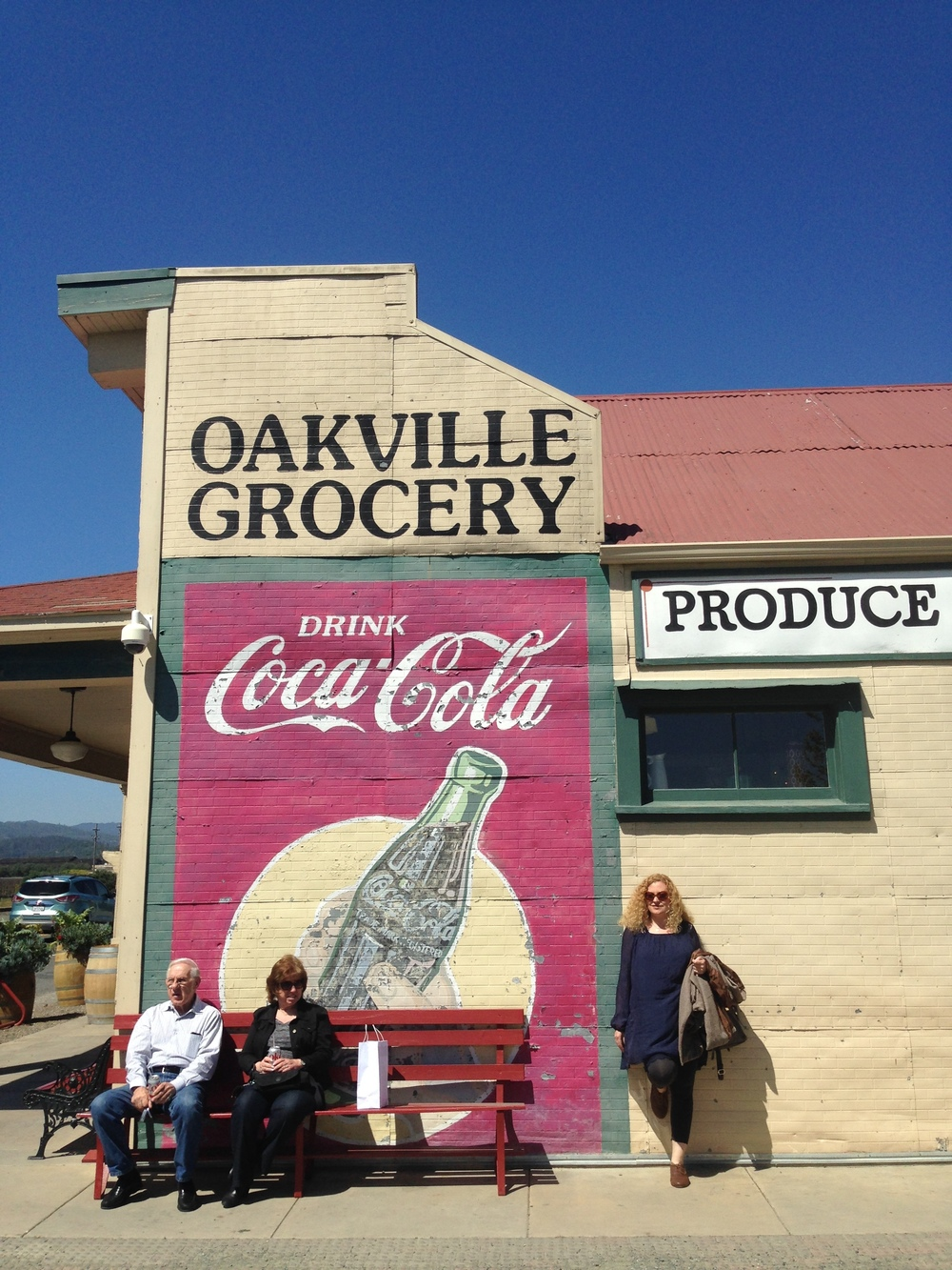 Some total strangers and I at the oldest continually operating Grocery store in California.